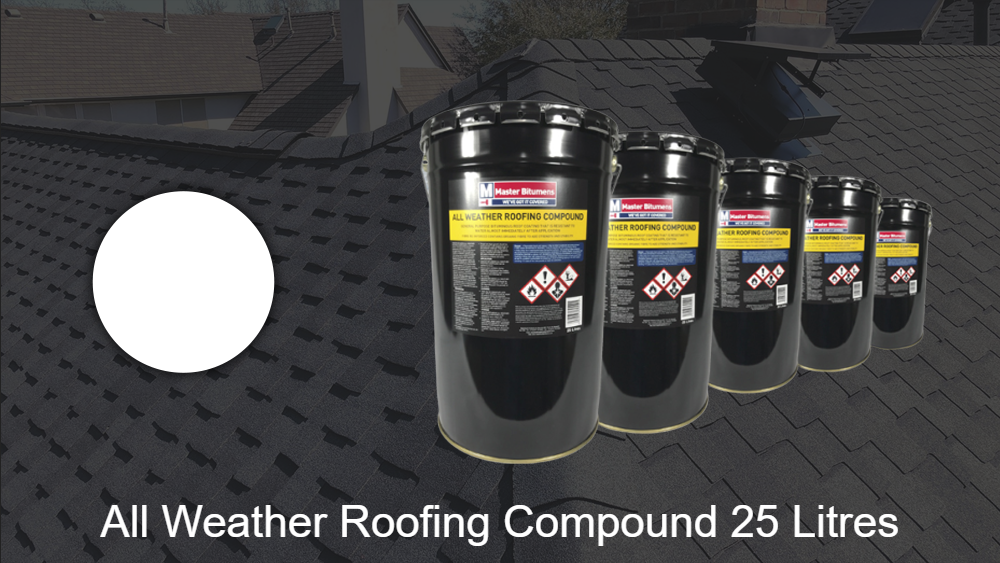 All weather roofing compund