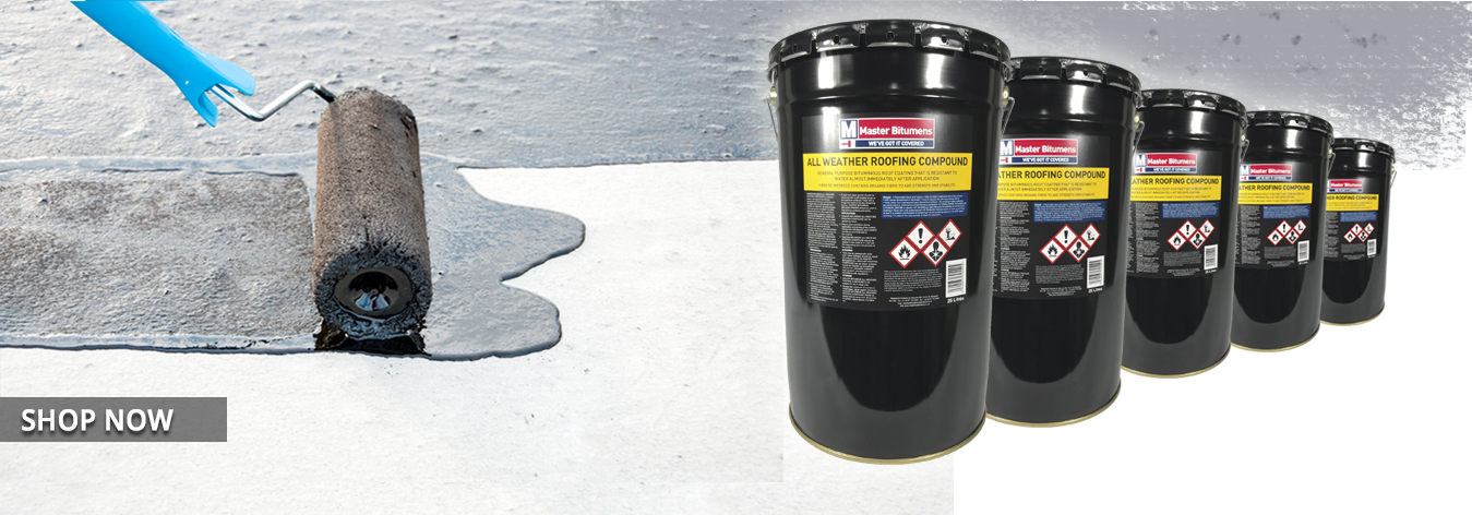 All weather roofing compound